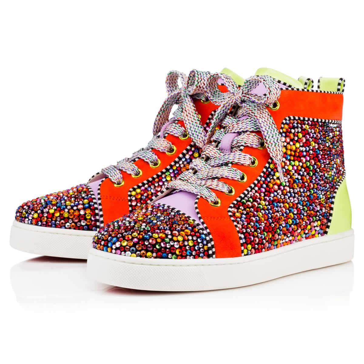 Спортивная обувь лабутены, модель Louis Women's Strass Flat