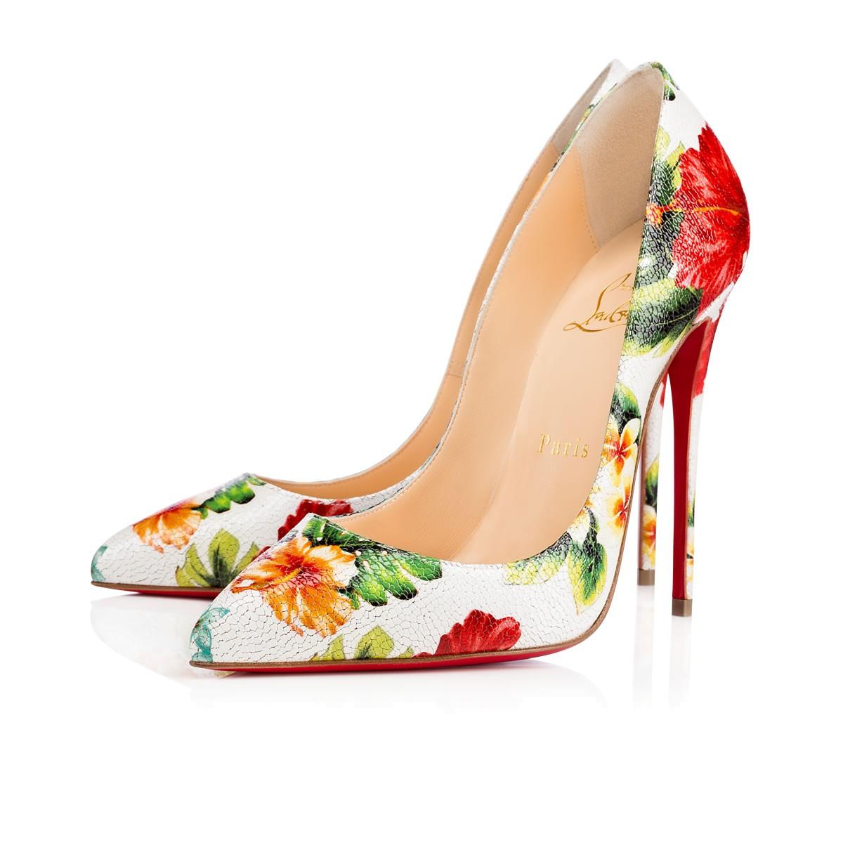 Цветочные туфли лабутены, модель Pigalle Follies