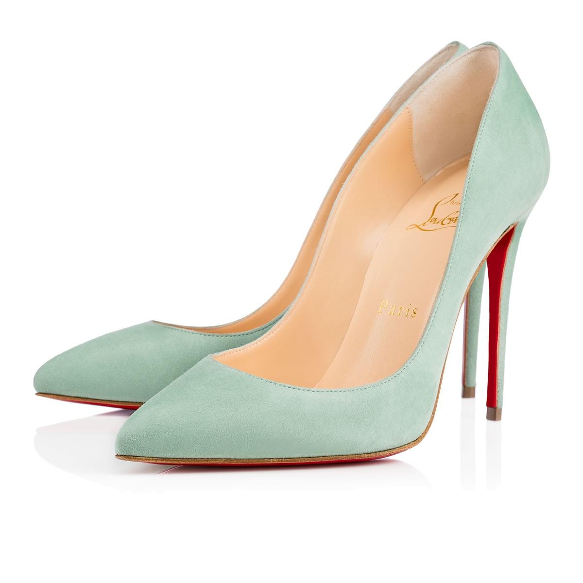 Голубые туфли лабутены, модель Pigalle Follies