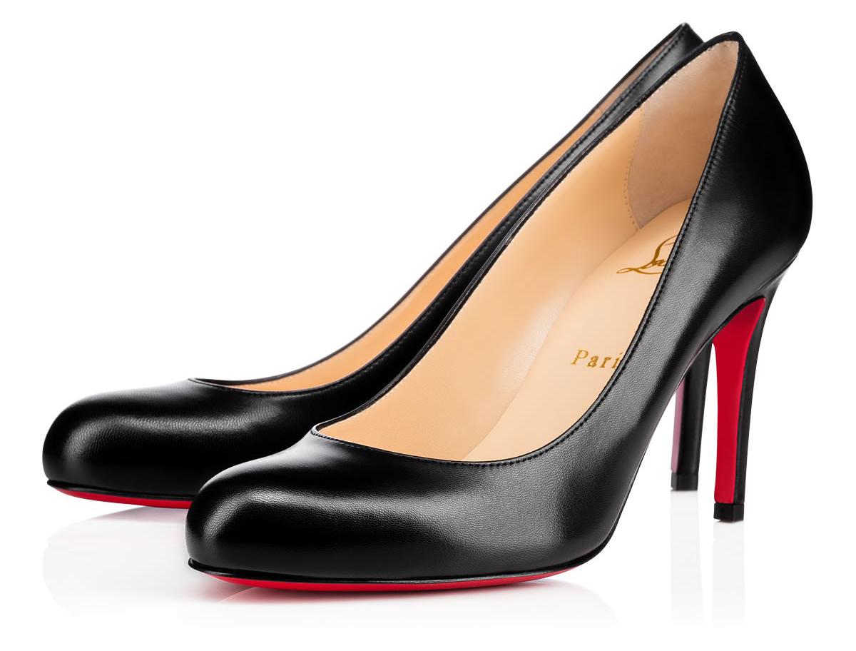 Черные туфли лабутены Simple Pump