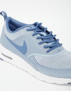 Серо-синие фактурные кроссовки Nike Air Max Thea