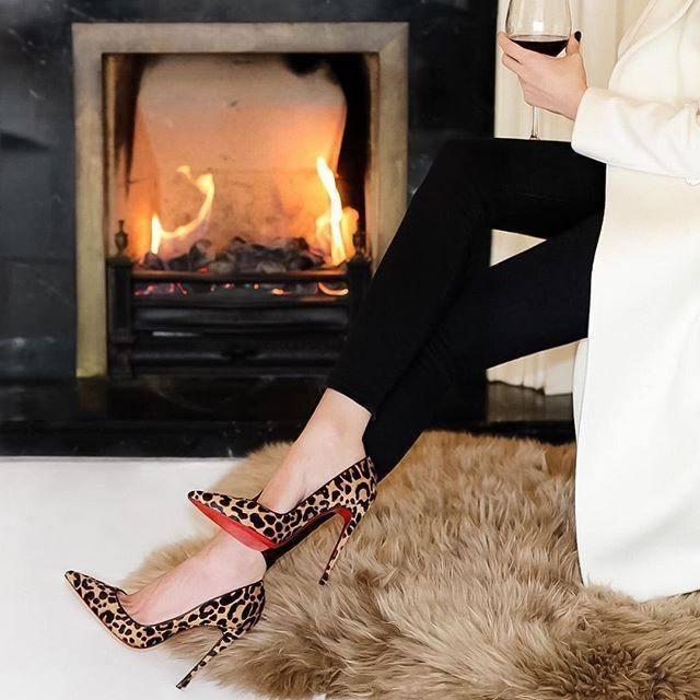 Леопардовые туфли лабутены