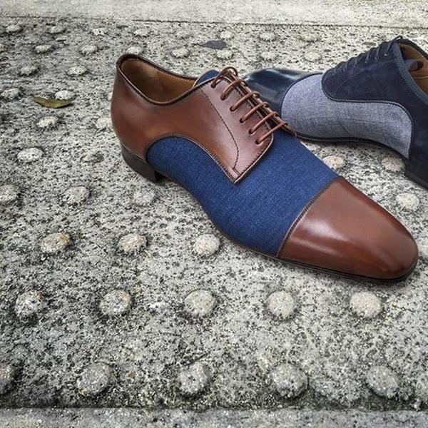 На фото: мужские туфли Лабутена