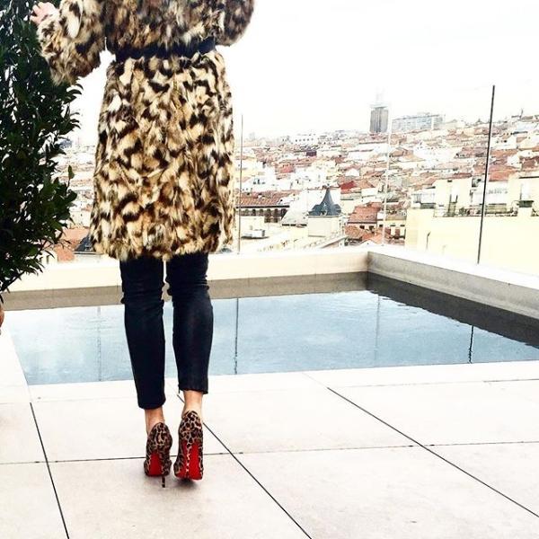 Леопардовые лабутены на шпильке