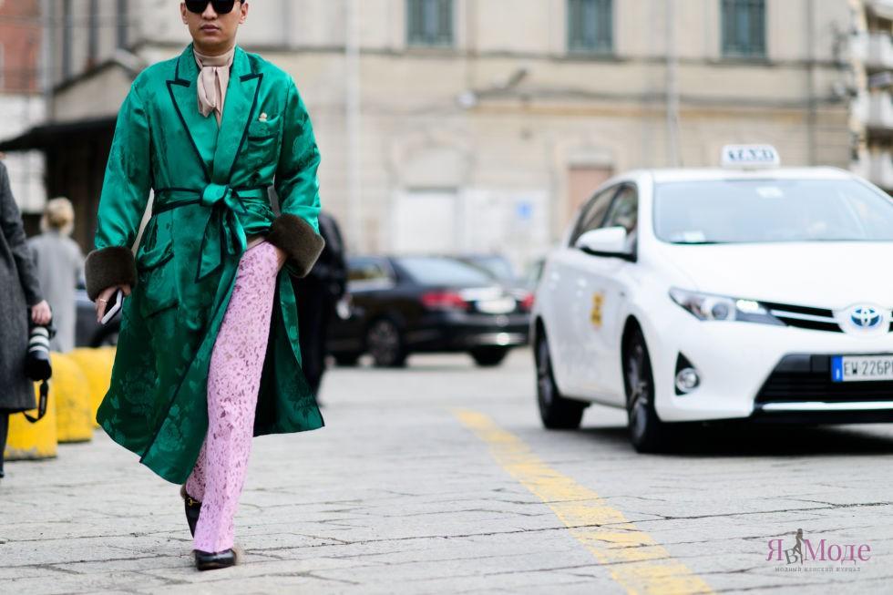 Лучшие тренды уличной моды Милана осень-зима 2016-2017
