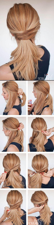 Легкая прическа на средние волосы пошаговый мастер класс