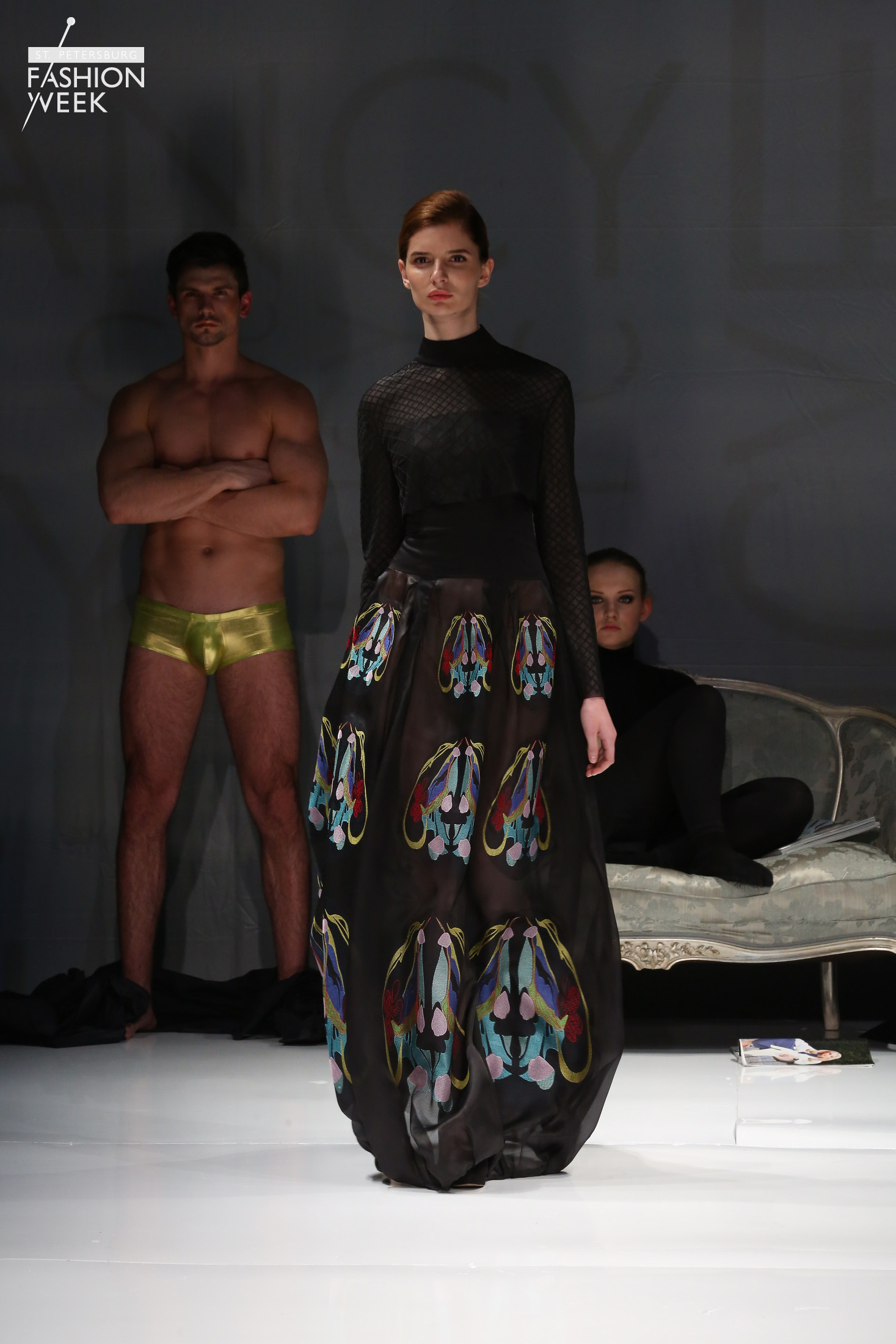 Показ коллекции FabricFancy осень-зима 2016-2017 на Неделе моды в Санкт-Петербурге