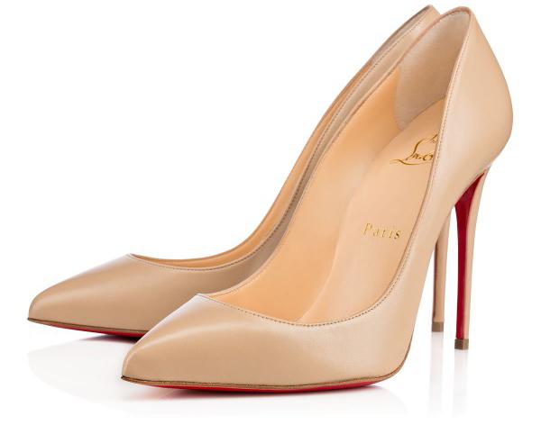 Новая интересная новинка- от Кристиана Лубутена туфли в стиле nude, бежевые туфли на высоком каблуке.