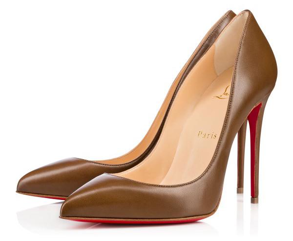 Новая интересная новинка- от Кристиана Лубутена туфли в стиле nude, коричневые туфли на высоком каблуке.