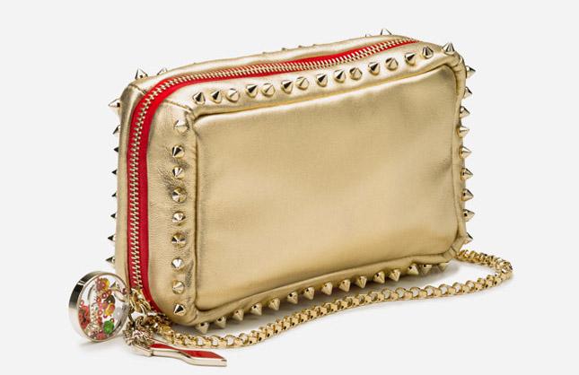 Новая коллекция сумок от Кристиан Лабутен - оригинальная сумка с металлическими шипами на цепочке.