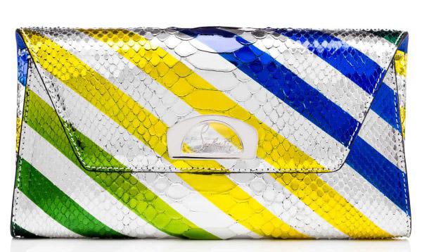 Новая коллекция сумок от Кристиан Лабутен - оригинальной расцветки.