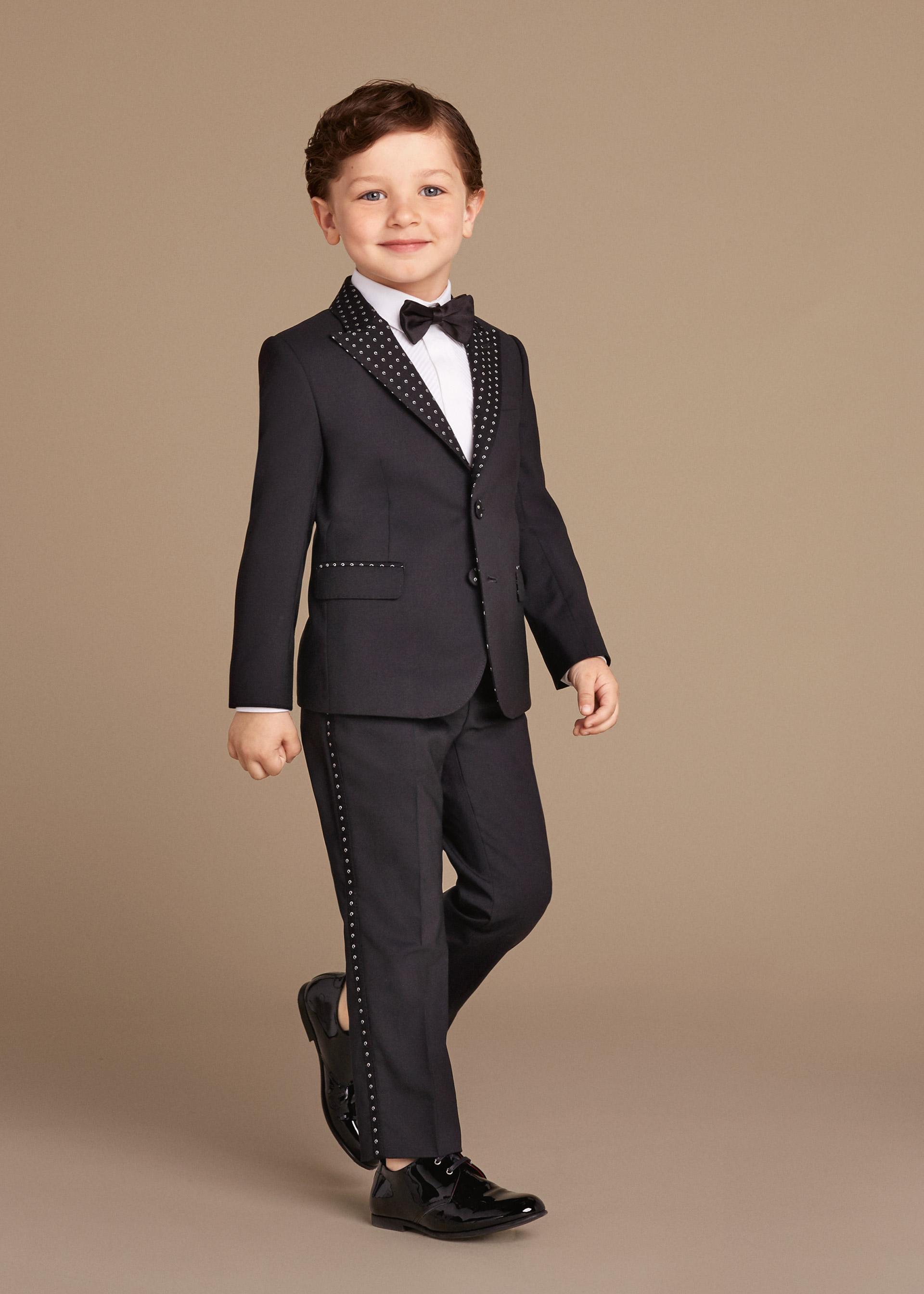 Новая коллекция для детей 2016 - классический костюм черного цвета.