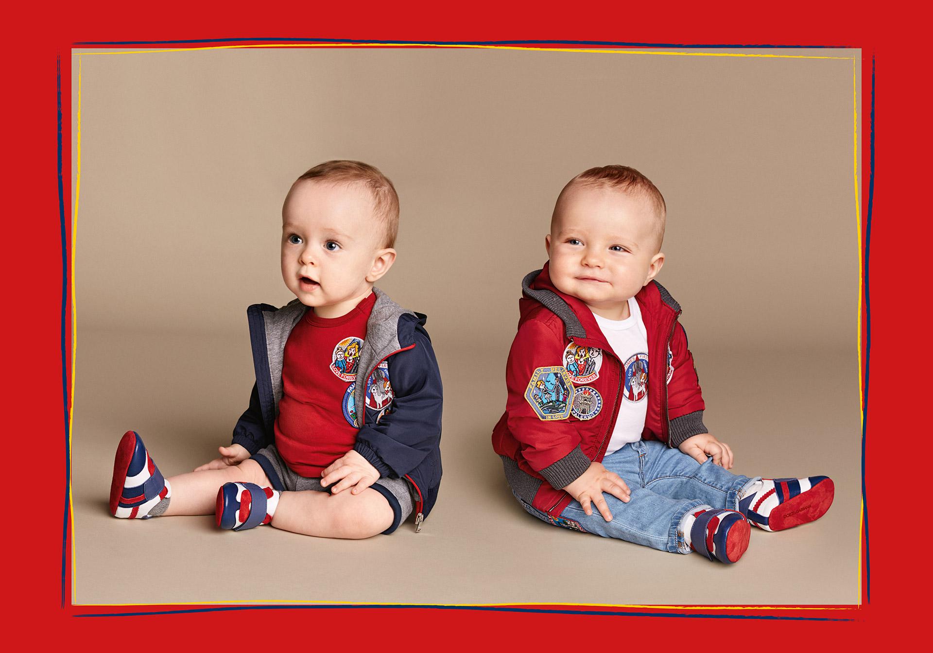 Коллекция Dolce&Gabbana для мальчиков, кому нет и годика забавные шорты, джинсы, курточки.