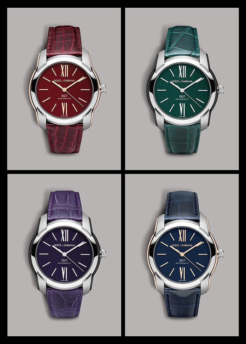 Ручные часы на кожаном ремешке Dolce&Gabbana.