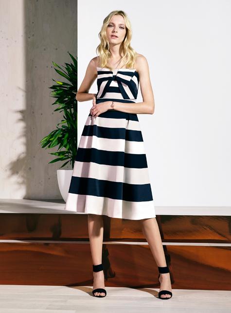 Новый модный LookBook весна-лето 2016 Karen Millen - сарафан в полоску.