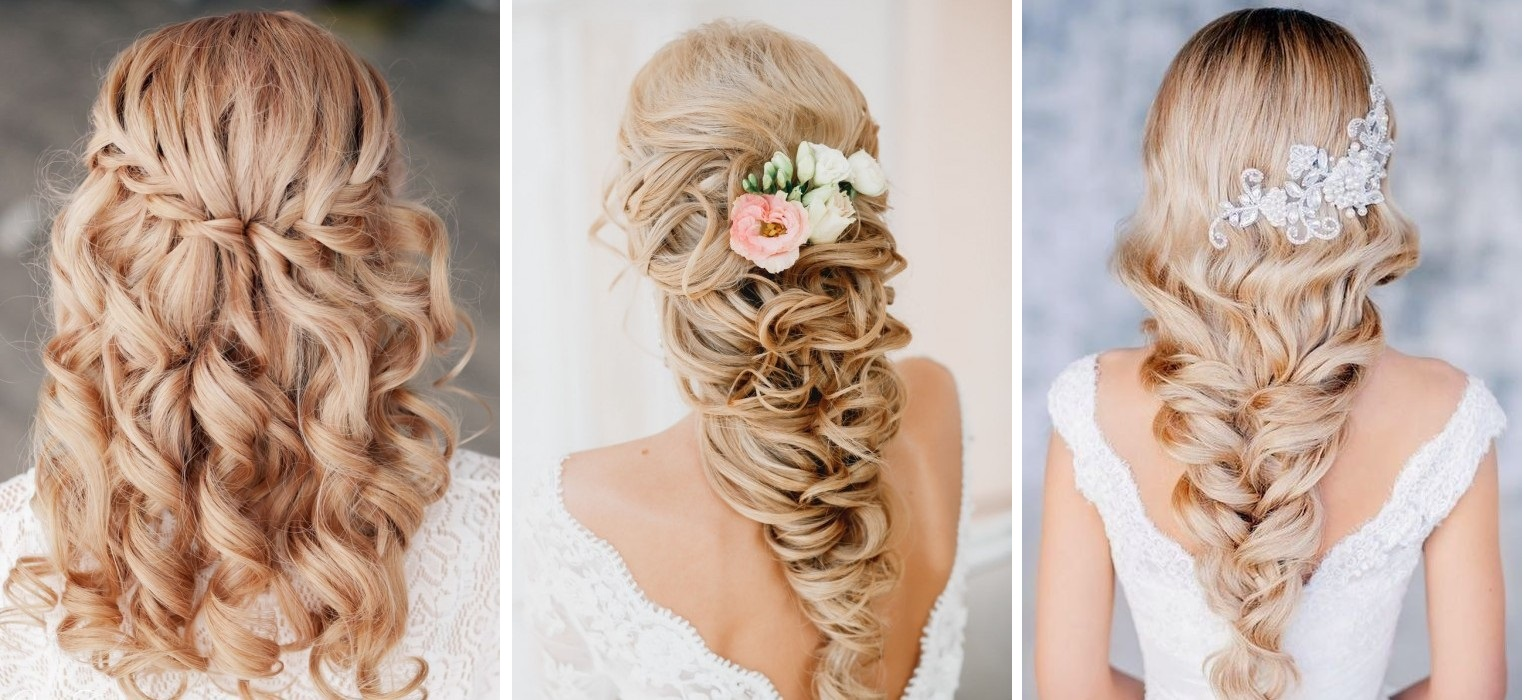 Прическа на свадьбу с длинными волосами и челкой