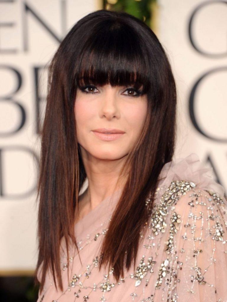 Причёски на прямые волосы с чёлкой фото