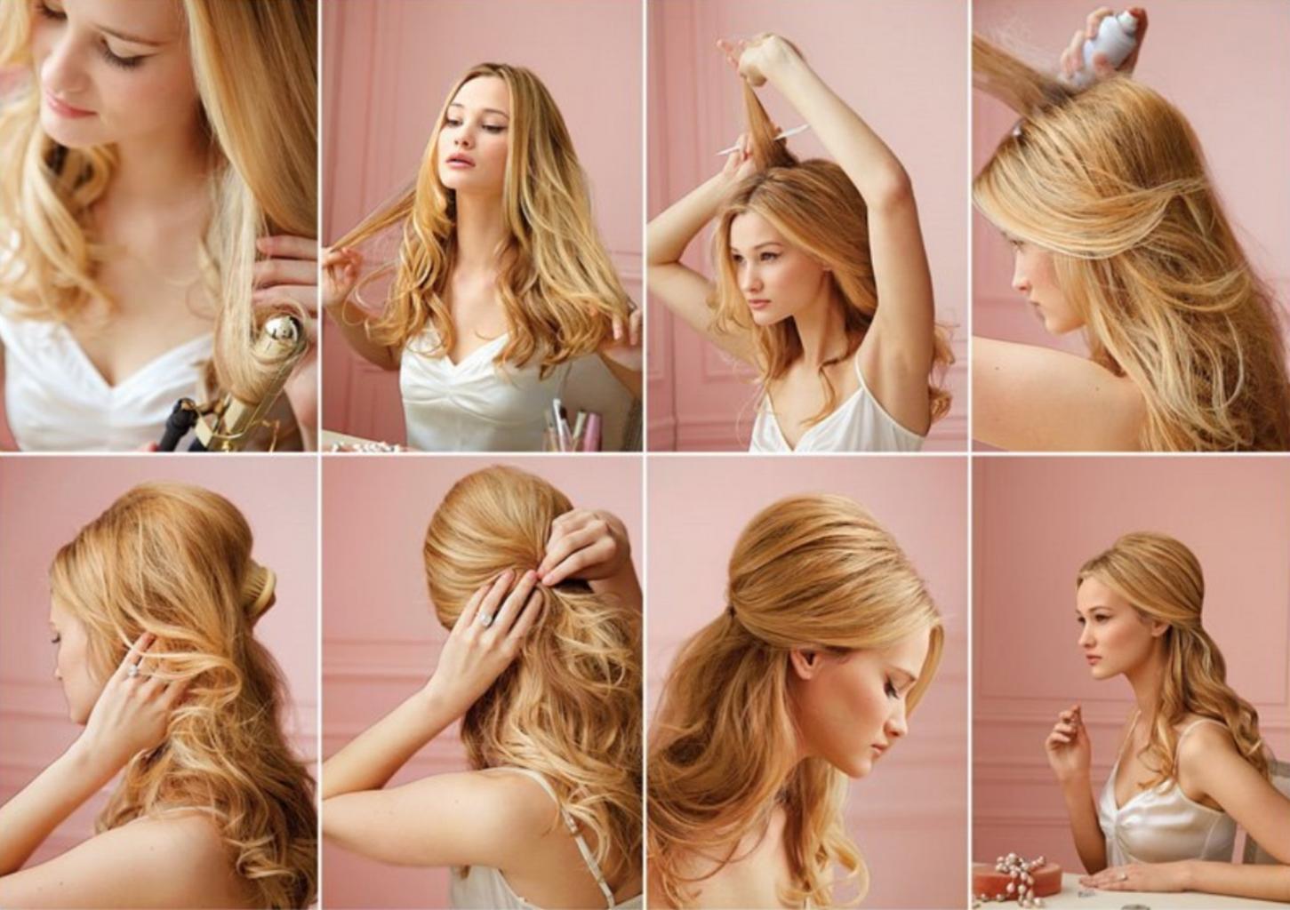 Прически на длинные волосы своими руками