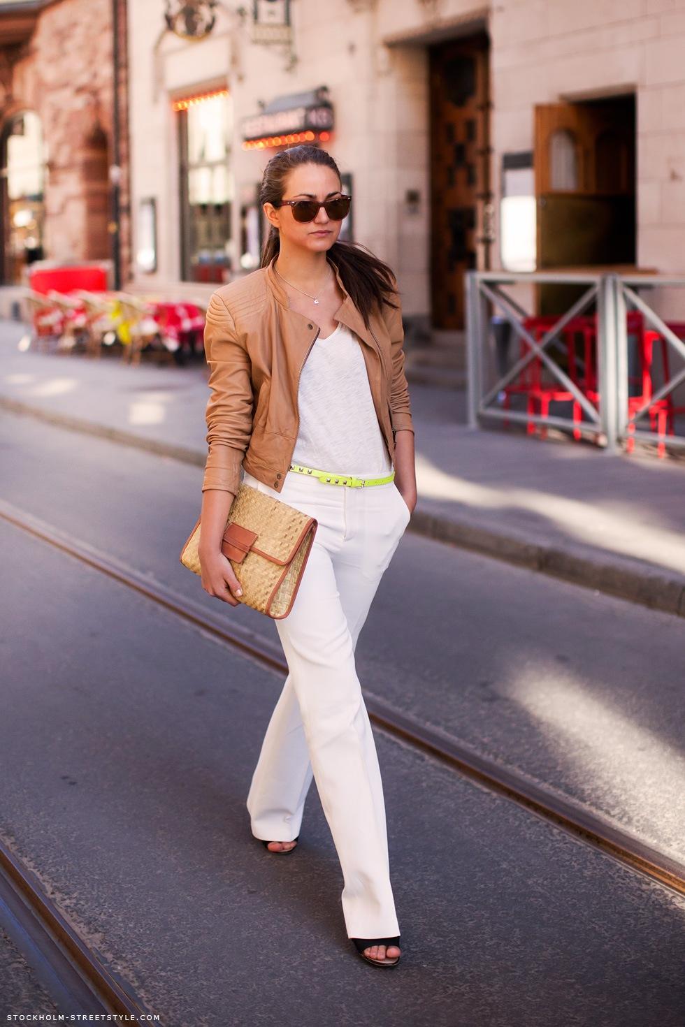 В новом сезоне - тренд №2 белые брюки.