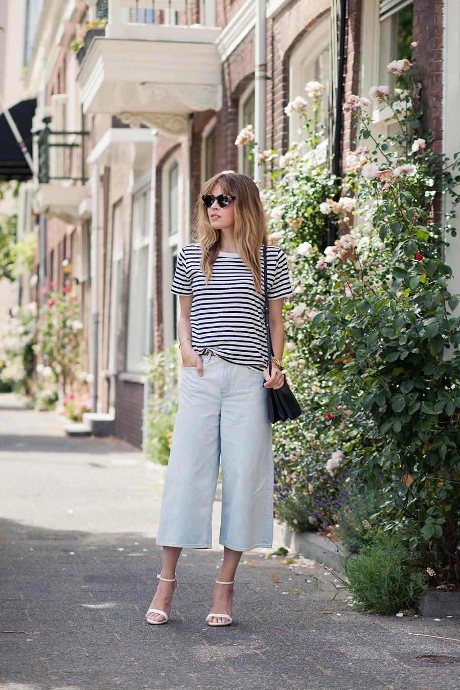 Короткие джинсы кюлоты - модны в сезоне 2016.