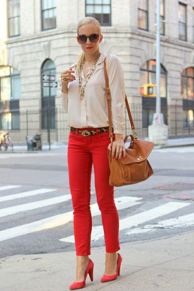 Модний тренд літа 2016  червоні брюки (фото) - Жіночий журнал TerraWoman.UA f2e982421ff9b