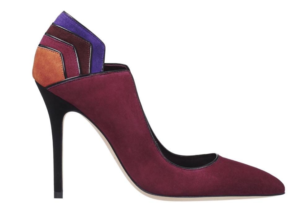 Новые тренды мультиразноцветные замшевые туфли из коллекчии Brian Atwood.