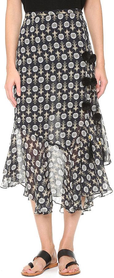 Помпоны – тренд сезона юбка украшенная помпонами.