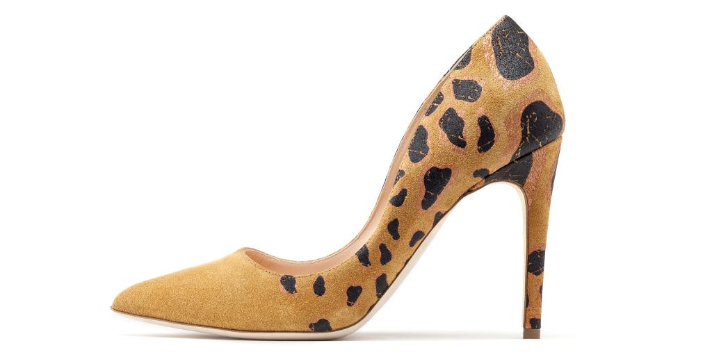 Новые тренды анималистические принты с леопардовыми вставками из коллекции Rupert Sanderson.
