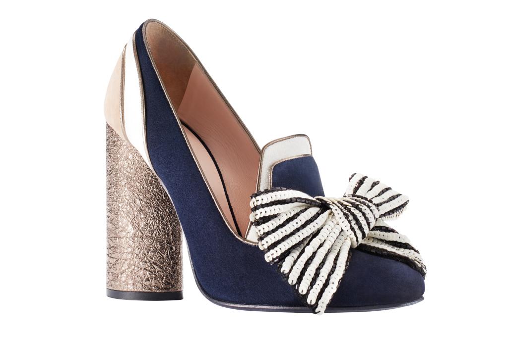 Новые тренды необычные туфли с массивным каблуком , бантом из коллекции Tommy Hilfiger.