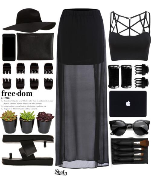 Двухслойная чёрная юбка. Непрозрачная мини сверху покрыта полупрозрачной юбкой макси.