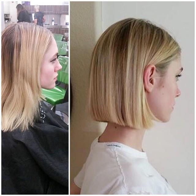 Стрижки боб на среднюю длину прямых волос.