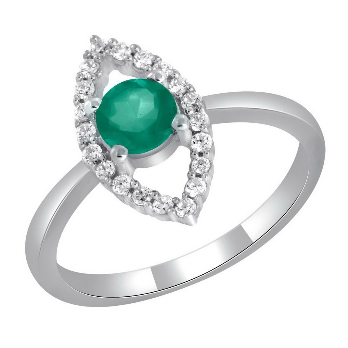 Кольцо из зеленого камня оникс.