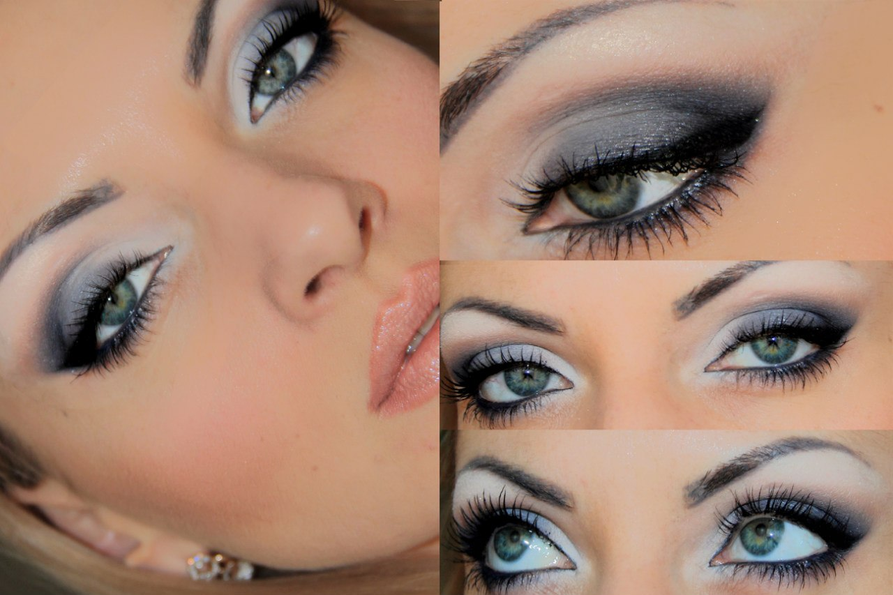 На фото: тени для серо-голубых глаз.