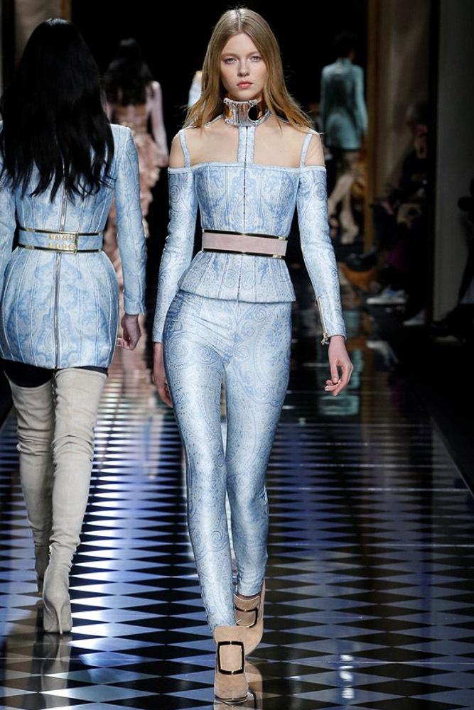 Мода осени 2016 - фото обзор трендов из коллекции Balmain.