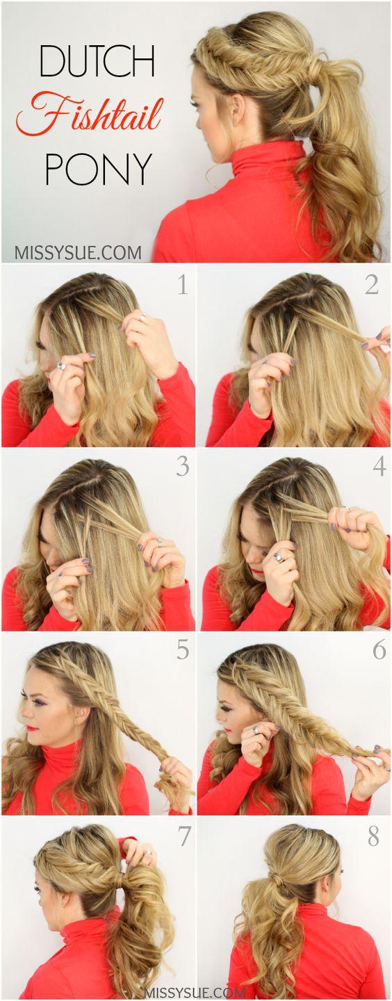 На фото: книга с пошаговой инструкцией плетения косы.