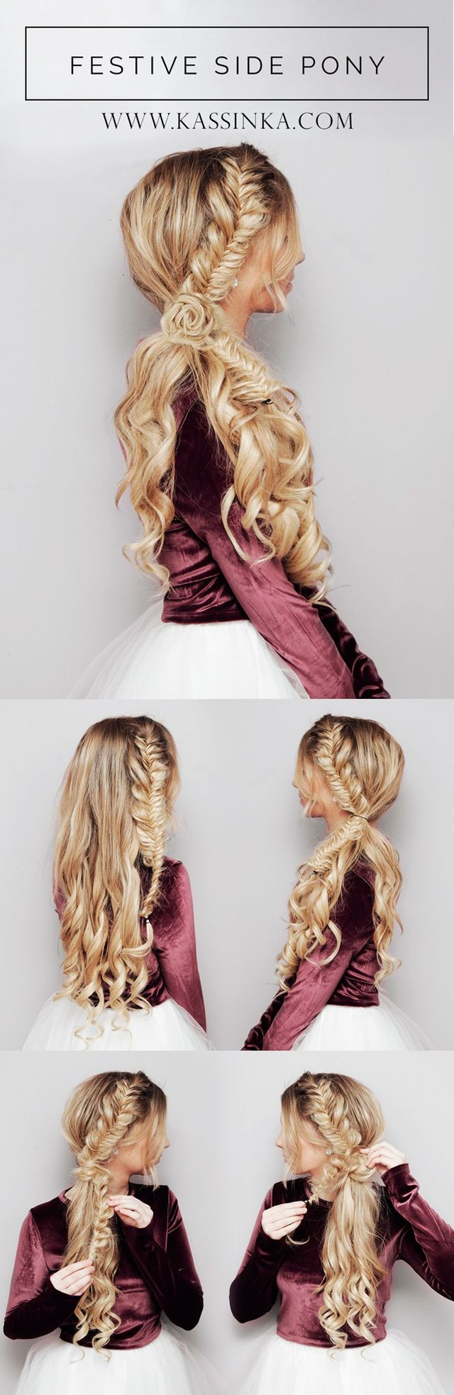 На фото: модные трендовые прически с косами-пошаговое плетения косы.