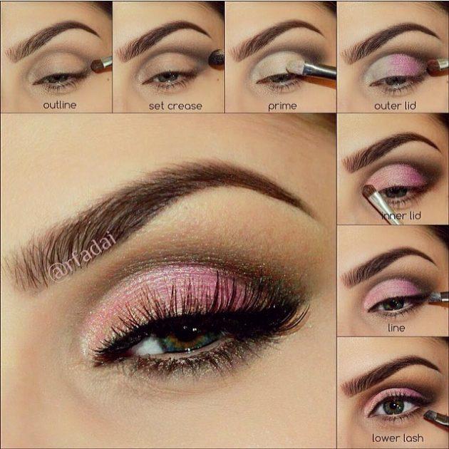 На фото: пример модного макияжа глаз для дневного использования.