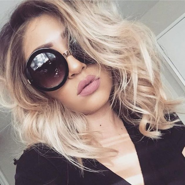 Модные солнечные очки 2016: большие круглые очки.