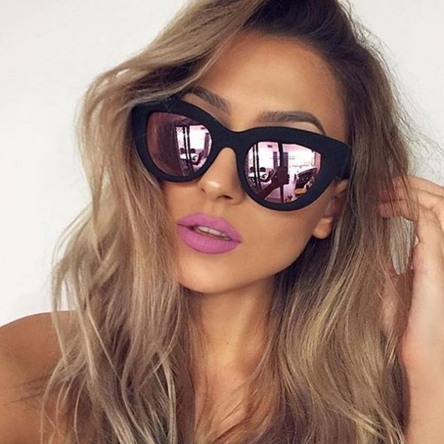 Модные солнечные очки 2016: с зеркальным эффектомв в двойной оправе.