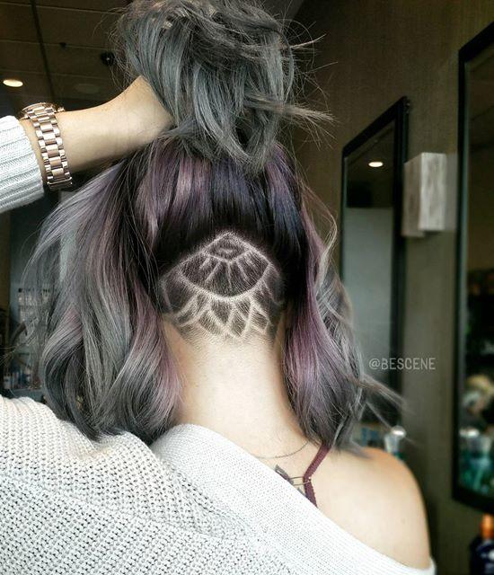 Причёски с выбритым затылком женские
