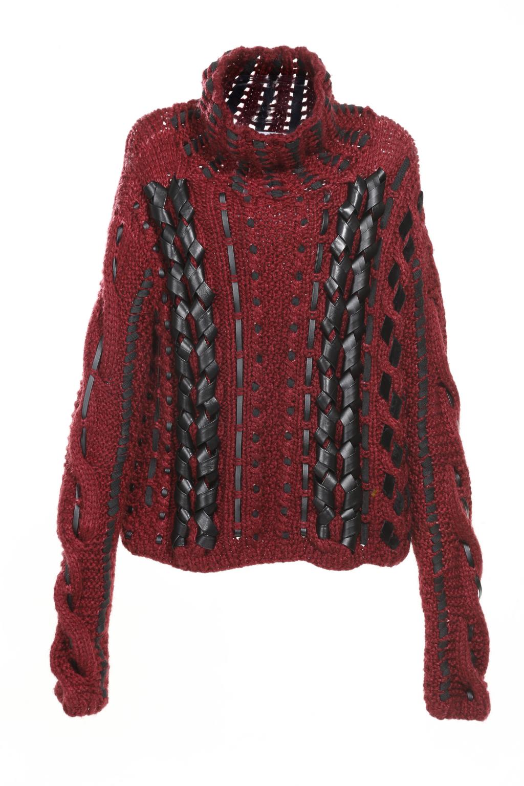 Модный бордовый свитер тренд сезона из коллекции Altuzarra..