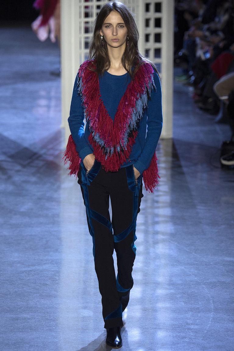 Модная одежда сезона зима 2017 - куртка из замши, фото обзор из коллекции Altuzarra.