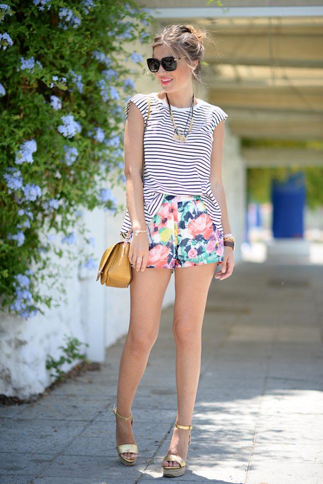 Цветные шорты: 17 новых ярких сочетаний