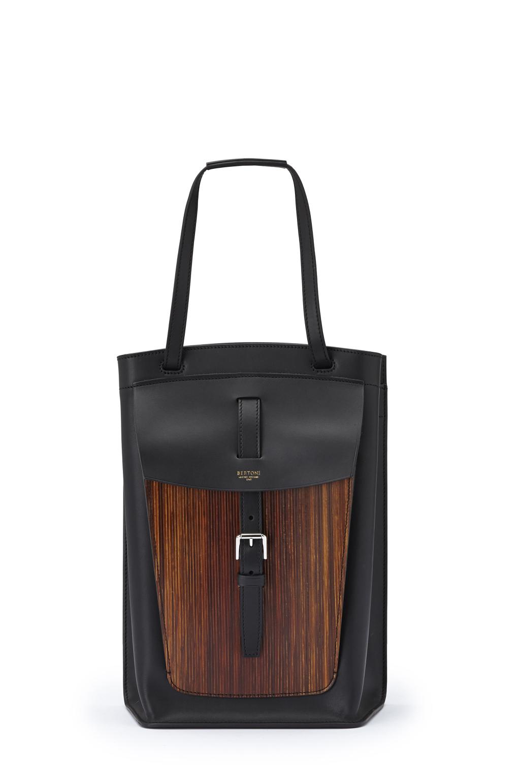 Большие сумки: модные тренды - сумка прямоугольной формы из коллекции Bertoni.