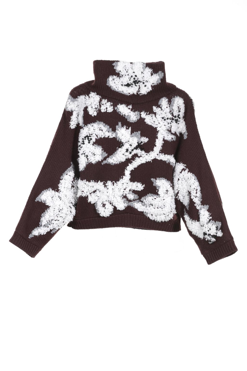 Модный укороченый свитер тренд сезона из коллекцииBrunello Cucinelli .