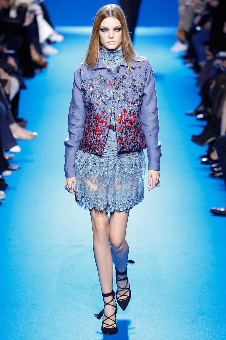 Модная одежда сезона зима 2017 - пальто, фото обзор из коллекции Elie Saab.