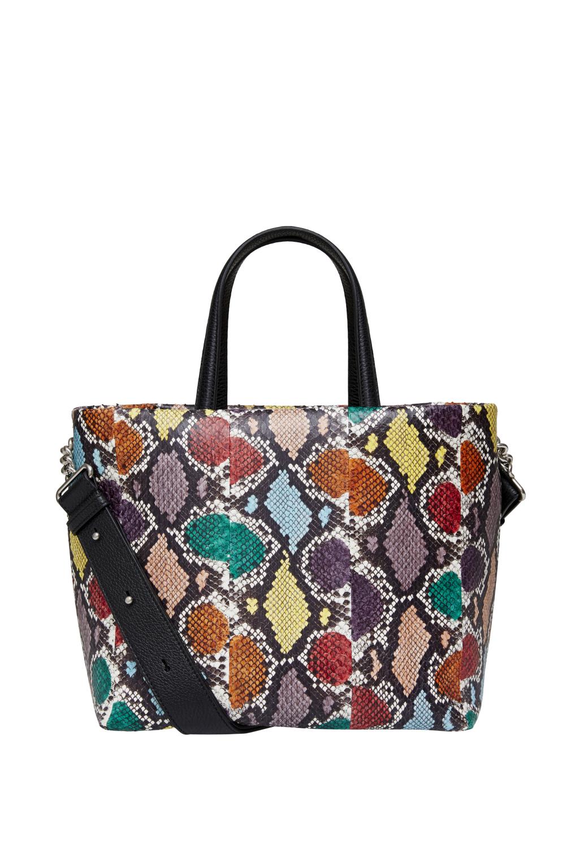 Большие сумки: модные тренды - сумка с перфорацией из коллекции Michino.