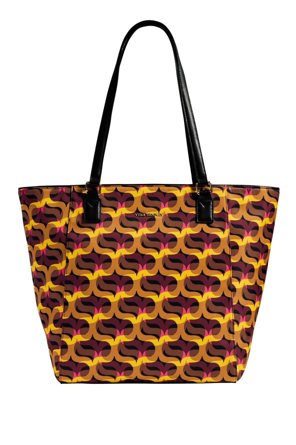 Большие сумки: модные тренды - сумка с размытыеми акварельныеми принтыами из коллекции Vera Bradley.