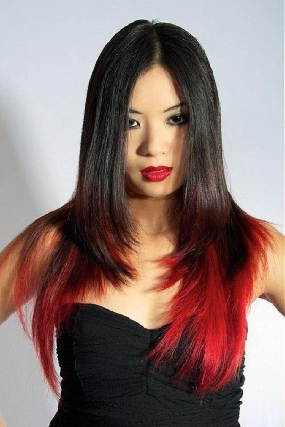 прически черный цвет волос фото