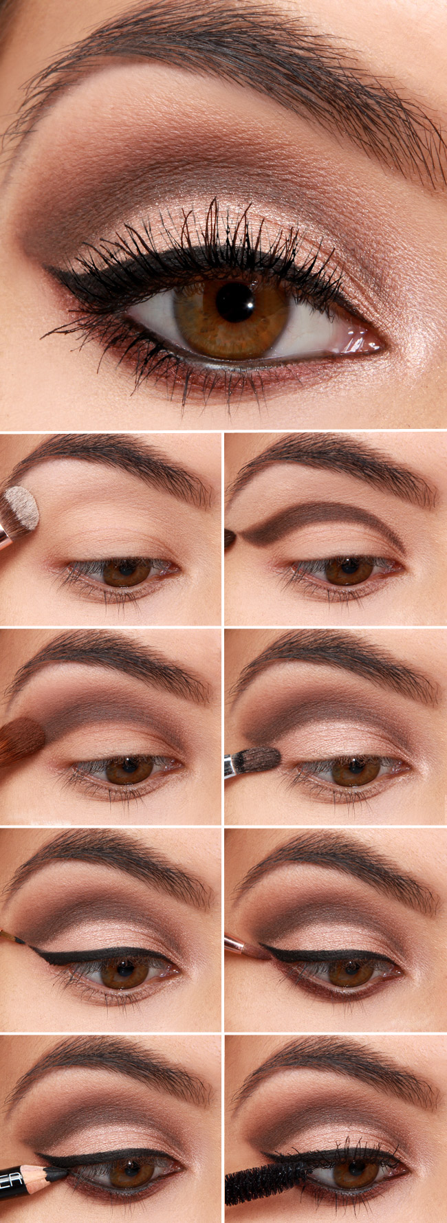 Научиться делать макияж карих глаз